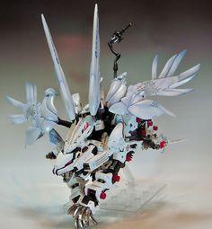 GUNDAM GUY: Wing Custom HMM Liger Zero GIA ″シャルベルフリューゲル″ - Custom Build