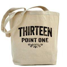 Thirteen Point One. 13.1. Half-Marathon. Tote Bag
