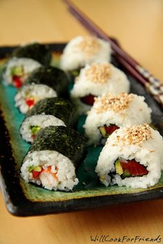 Everything You Need To Know To Make Sushi At Home! If I could choose one food to eat for the rest of my life… sushi might just be that food. On any given day, at any given moment, if you ask me what I'm in the mood for, I will say sushi. Always. The Brother …