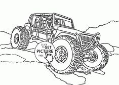 86 best monster truck coloring pages