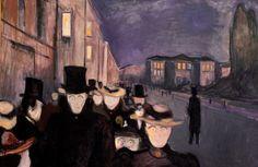 "Edvard Munch, ""Evening on Karl Johan,"" 1892."