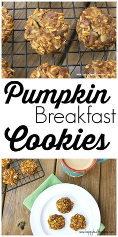 These healthy Pumpkin Breakfast cookies are gluten-free, dairy-free, and totally delicious! #healthy #breakfast #recipe