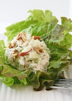 ive been wanting to make chicken salad for a while. . a healthy version of course!