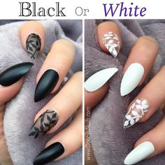 "Polubienia: 11 tys., komentarze: 423 – Nails Fashion (@nailsartistry) na Instagramie: ""Black or White? Comment down below and tag a friend who needs this!"""