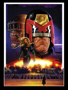 Liam Sharp is a talented guy. Check out this pin up he did of #Dredd.