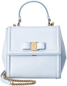6e3bb96f3953 Salvatore Ferragamo Carrie Small Vara Leather Top Handle Bag Bago