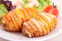 Patatas Hasselhoff al horno y con queso. ¡Riquísimas! - Recetín