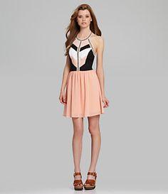 GB Colorblock Halter Dress   Dillard's Mobile