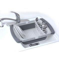 These innovative, Collapsible Dish Racks save space and make kitchen cleanup easier when being used and when in the collapsed position. Choose the over the sink or counter dish drying rack that's right for you, both with drain boards that channel water for ultimate drying capabilities.