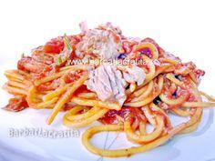 Paste cu ton (spaghete) Paste, Cooking, Ethnic Recipes, Food, Meal, Kochen, Essen, Hoods, Meals