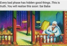 Sai Baba Wallpapers, Sai Baba Photos, Om Sai Ram, Peaceful Life, Love Life, Faith, Messages, God, Quotes