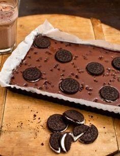 Tarta fría de-chocolate con Oreo