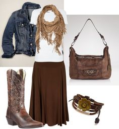 """""""Western Wear"""" by daisyhedo . I love this look. Modest Outfits, Modest Fashion, Fall Outfits, Casual Outfits, Cute Outfits, Modest Clothing, Country Outfits, Western Outfits, Western Wear"""