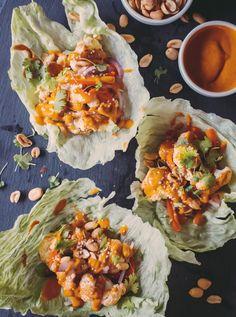 Asian Cauliflower Lettuce Wraps | LemonsandBasil.com