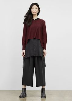 cropped hem, high vamp. EILEEN FISHER: New Arrivals