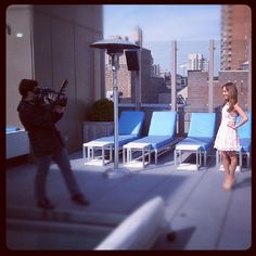 Behind the camera during a rooftop photo session! #gansevoort