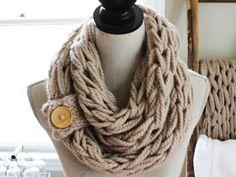 El hacer punto del brazo de bricolaje - 30 Minutos de la bufanda - Con Simply Maggie