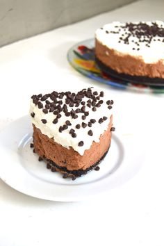 Miniature french silk pie.  Cut out any favorite pan bar or layered dessert with a cookie cutter for gluten free tea party fare.
