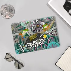 @casetify #tropical #surrealism #maximalism #illustration #animal #art #fish #triggerfish #feathers #treefrog #frog #waves #floral #flowers #orchid #hibiscus #sharonturner #macbook #casetify Maximalism, Tree Frogs, Floral Flowers, Hibiscus, Tech Accessories, Casetify, Surrealism, Macbook, Feathers