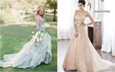 L'abito da sposa per il 2016 si tinge di azzurro e di rosa (FOTO)