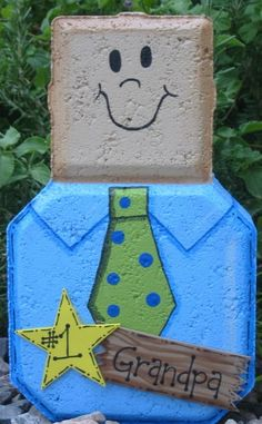 Garden Decor - Man Family Member Custom Personalized Patio Person Concrete Art via Etsy