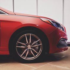 Sporty 18-inch alloys. #NewSonata #NYIAS #Hyundai
