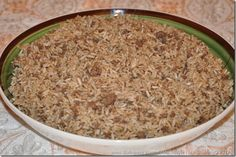 Arabic-style rice stuffing. An extremely easy recipe that is great as a standalone dish and delicious as stuffing for chicken or lamb.