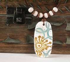 SALE / FREE SHIPPING / Polymer Clay Pendant by WiredOrchidJewelry