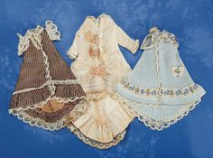 three early dresses for all-bisque mignonettes