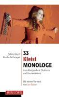 33 Kleist-Monologe   Bayerl / Grübmeyer   Buch (Cover)