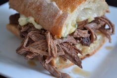 Slow-Cooked Shredded Pot Roast Sandwich