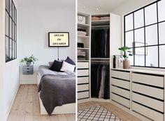 Walk-in closet – Kreavilla Dream Apartment, Apartment Interior, Walk In Closet Small, Bedroom Closet Design, Fashion Room, Interior Exterior, Dream Rooms, Small Apartments, Home Decor Inspiration