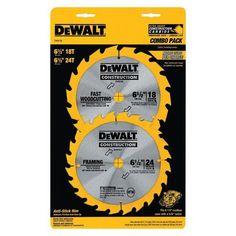 "DeWalt DW9158 6-1/2"""" Saw Blade Assortment 18 and 24 Tooth (2-PK)"