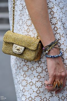 Thinking about what bag to wear during MFW...  --  what do you think about this mini Chanel bag? :)