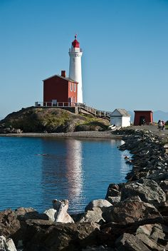 Fisgard Lighthouse Victoria, British Columbia, Canada Gotta see some lighthouses! Torre Cn, The Places Youll Go, Places To Visit, Beautiful World, Beautiful Places, Voyage Canada, Victoria British Columbia, Beacon Of Light, Jolie Photo