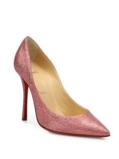 CHRISTIAN LOUBOUTIN Decoltish 100 Glitter Point-Toe Pumps