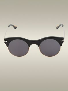 Roland Mouret's round Max Sunglasses are a playful pair of city shades with a slick feel and a directional edge. Featuring a dramatic thick black acetate Roland Mouret, Pairs, Sunglasses, Shopping, Black, Women, Style, Swag, Black People