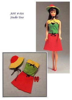 Barbie dress and hat pattern