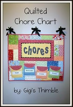 Quilted Chore ChartTutorial on the Moda Bake Shop. http://www.modabakeshop.com