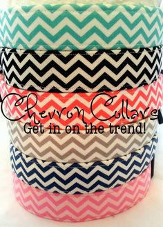 Chevron Dog Collars by PuddleJumperPups on Etsy, $15.00
