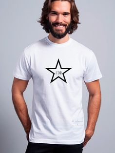 Camiseta hombre manga corta ESTRELLA IT DAD de DECHARCOENCHARCO en Etsy