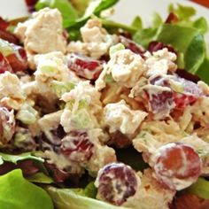 My Go-To Grape Chicken Salad Recipe | Just A Pinch Recipes