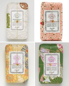Ejemplos de packaging vintage en jabones ·