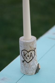 Items similar to Birch Bark Log Taper Candle Holder Custom Engraved With Your Initials on Etsy Wedding Wows, Our Wedding, Dream Wedding, Birch Logs, Birch Bark, Taper Candle Holders, Candle Holders Wedding, Hand Engraving, Custom Engraving