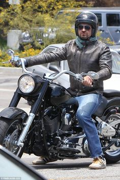 Revving his engines: Gerard Butler, 46, rode his motorcycle to Malibu's Soho House for a l...