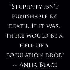 Anita Blake.. One of my favorite Laurell K. Hamilton characters!