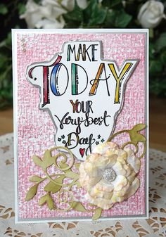 Christina Griffiths using the new collection from Tammy Tutterow to create a pretty card that is very easy to make.
