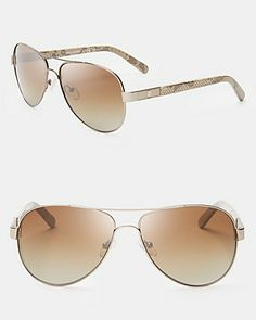 c4b82e4ca9 Tory Burch Polarized Aviator Sunglasses