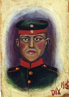 Otto Dix (German 1891–1969) [German Expressionism, Neue Sachlichkeit] Self-portrait as a Target.