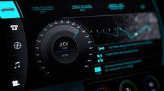 Car dashboard UI on Behance